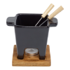 Tapas fondueset zwart 200 ml
