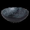 Schaal bol  25.5 cm melamine, zwart