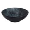 Schaal bol  33 cm melamine, hout-zwart