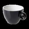 Cappuccinokop 23 cl zwart