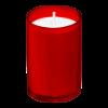 Kaarsen clear cups 16 branduren, rood