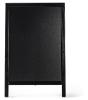 Duplo krijtbord zwart 85 x 55 cm