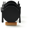 Mini krijtbord bord silhouet
