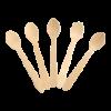 Mini lepel hout 100mm FSC 00st