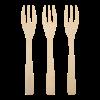 Mini vork bamboe 90mm 200st