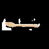 Mini lepel bamboe 90mm
