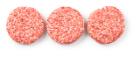 Runder hamburger peper en zout