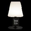 Tafellamp met krijtbord tag