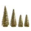 Kerstbomen goud in koker