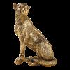 Ornament tijger 34 x 21 x 50 cm polyresin, goud