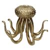 Kandelaar octopus 30.3 x 28.3 x 20.5 cm polyresin, goud
