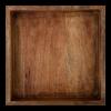 Serveerschaal rechthoek 30 x 30 x 5 cm hout