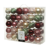 Kerstbal mix 60 plastic, pink forest