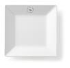 Bord vierkant 18 x 18 cm melamine, wit
